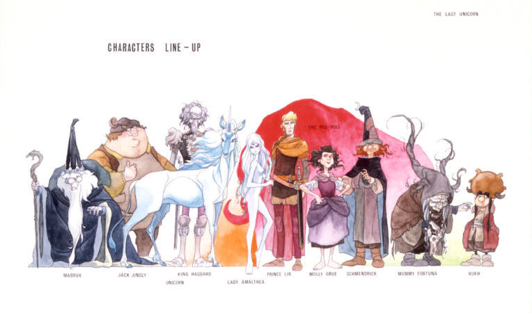 Single Line Character Art : Last complete print set of kubo concept art from the unicorn