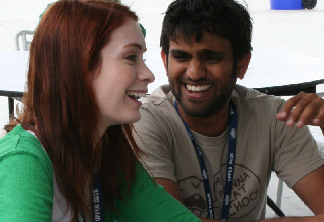 Felicia Day and Sandeep Parikh at San Diego Comic-Con – ÜberSciFiGeek